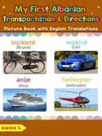 My First Albanian Transportation & Directions Picture Book with English Translations