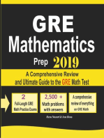 GRE Math Prep 2019: A Comprehensive Review and Ultimate Guide to the GRE Math Test