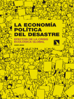 La economía política del desastre: Efectos de la crisis ecológica global