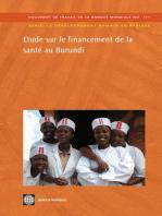 Etude sur le financement de la santé au Burundi