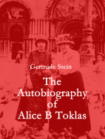 The Autobiography of Alice B Toklas