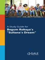"""A Study Guide for Begum Rokeya's """"Sultana's Dream"""""""