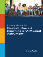 """""""A Study Guide for Elizabeth Barrett Browning's """"""""A Musical Instrument"""""""""""""""