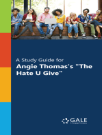 """A Study Guide for Angie Thomas's """"The Hate U Give"""""""