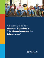 """""""A Study Guide for Amor Towles's """"""""A Gentleman in Moscow"""""""""""""""