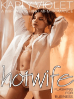 Hotwife Flashing For Business - A Wife Watching MFM Romance