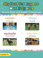 My First Portuguese World Sports Picture Book with English Translations