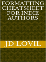 Formatting Cheatsheet for Indie Authors
