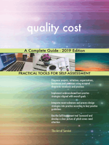 quality cost A Complete Guide - 2019 Edition