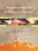 Microsoft Dynamics 365 for Finance and Operations A Complete Guide - 2019 Edition