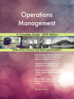 Operations Management A Complete Guide - 2019 Edition