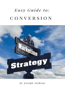 Easy Guide to: Conversion