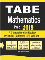 TABE Math Prep 2019
