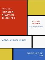 Financial analysis – Tesco Plc