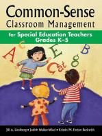 Common-Sense Classroom Management for Special Education Teachers Grades K?5