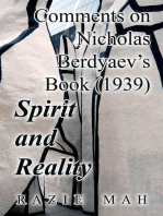 Comments on Nicholas Berdyaev's Book (1939) Spirit and Reality