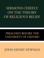Sermons Chiefly on the Theory of Religious Belief