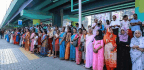 Millions Of Women In India Join Hands To Form A 385-Mile Wall Of Protest
