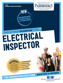 Electrical Inspector: Passbooks Study Guide