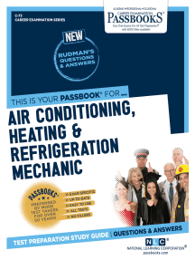 Air Conditioning, Heating and Refrigeration Mechanic: Passbooks Study Guide
