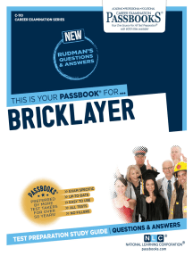 Bricklayer: Passbooks Study Guide
