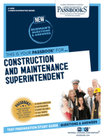 Construction and Maintenance Superintendent: Passbooks Study Guide