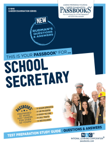 School Secretary: Passbooks Study Guide