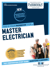Master Electrician: Passbooks Study Guide