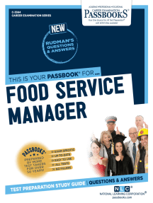 Food Service Manager: Passbooks Study Guide