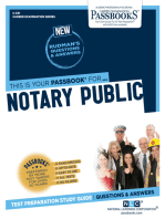 Notary Public: Passbooks Study Guide