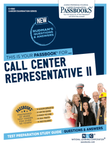 Call Center Representative II: Passbooks Study Guide