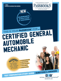 Certified General Automobile Mechanic (ASE): Passbooks Study Guide
