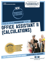 Office Assistant II (Calculations)