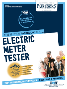 Electric Meter Tester: Passbooks Study Guide