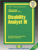 Disability Analyst III