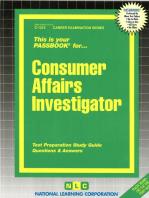 Consumer Affairs Investigator