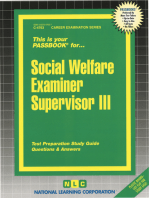Social Welfare Examiner Supervisor III