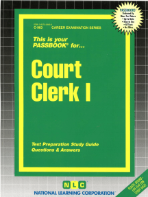 Court Clerk I: Passbooks Study Guide