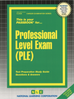 Professional Level Exam (PLE)