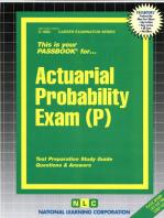 Actuarial Probability Exam (P): Passbooks Study Guide