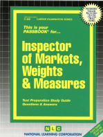 Inspector of Markets, Weights & Measures