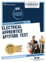 Electrical Apprentice Aptitude Test: Passbooks Study Guide