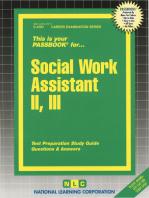 Social Work Assistant II, III