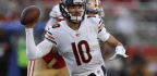 Bears QB Mitch Trubisky Can't Avoid The Scrutiny A Postseason Brings