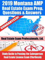 2019 Montana AMP Real Estate Exam Prep Questions, Answers & Explanations