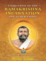 Uniqueness of the Ramakrishna Incarnation and Other Essays