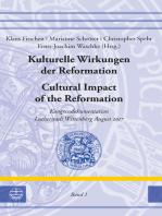 Kulturelle Wirkungen der Reformation / Cultural Impact of the Reformation