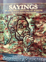 Sayings Of The Great Masters Of Wisdom