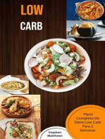 Low Carb: Plano Completo Da Dieta Low Carb Para 2 Semanas