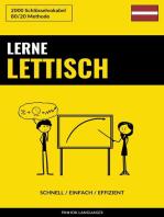 Lerne Lettisch
